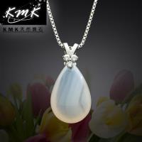 KMK天然寶石~滴水成金~ 天然白玉髓~項鍊
