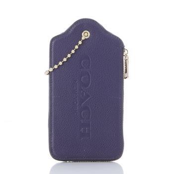COACH LOGO壓紋荔枝紋皮革吊飾造型 手機/手拿包(共五款)(特)