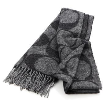 COACH C LOGO 義大利製 羊毛圍巾(共五款)