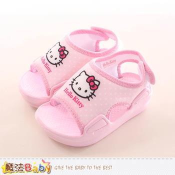魔法Baby 寶寶鞋 Hello kitty授權正版女童涼鞋~sk0164