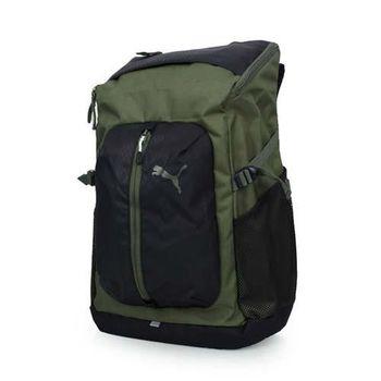 PUMA APEX後背包-雙肩包 電腦包 旅行包 行李包 登山 軍綠黑