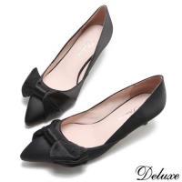 【Deluxe】優雅名伶法式尖頭跟鞋(黑)-YS22