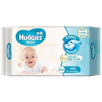 【好奇】純水嬰兒濕巾一般型(100抽x3包x6串共18包/箱)