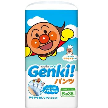 【日本境內麵包超人】GENKI!褲型XL38片 (3包x1箱)