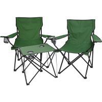 好舒適休閒折疊桌+椅3入組