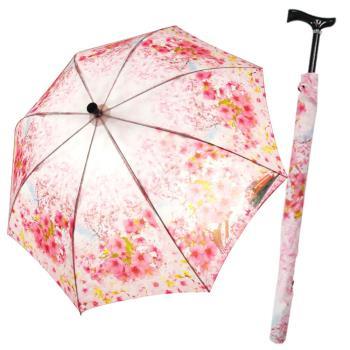 阿里山櫻花風情自動傘登山傘+三折傘2入組