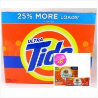 美國Tide 超濃縮洗衣粉 高效 去漬配方(原始清香)5.8kg/盒+洗衣槽洗潔劑(75g*8包)
