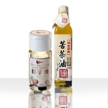 《炭道健康》健康加油組合(椰子油+苦茶油)