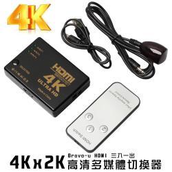Bravo-u HDMI 三入一出 4Kx2K高清多媒體切換器-網