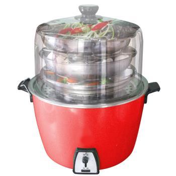 料理達人加高鍋蓋實用超值組304不鏽鋼