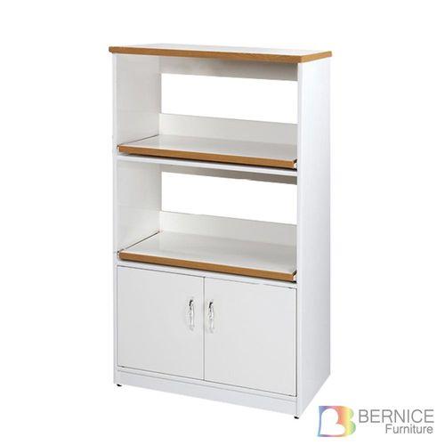 Bernice-防潮防蛀 塑鋼2.2尺雙門二格電器櫃/餐櫃