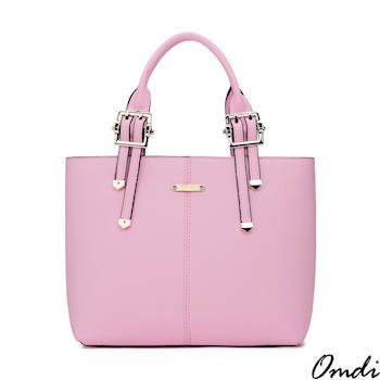 【Omdi】都會淑女手提包-粉紅/藍色/白色