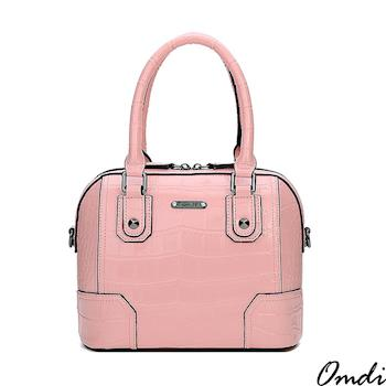 【Omdi】摩登輕巧鱷魚壓紋手提包-粉色/白色/紅色/黑色