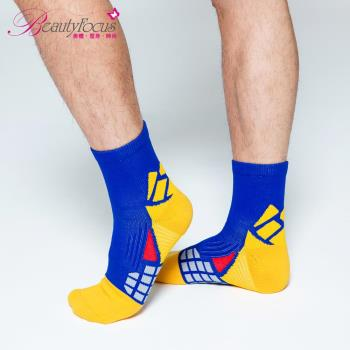BeautyFocus 抗菌透氣專利機能運動壓力襪 藍色 0623