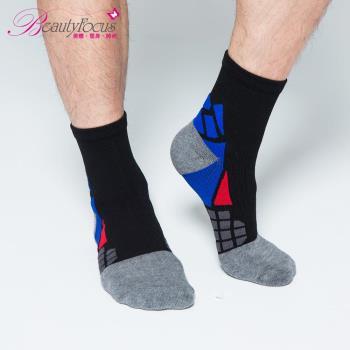 BeautyFocus 抗菌透氣專利機能運動壓力襪 黑色 0623
