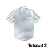 Timberland 男款紅藍格子Coolmax休閒短袖襯衫