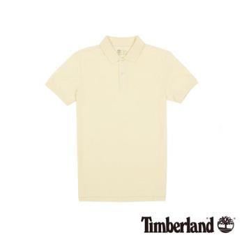 Timberland 男女款米白色Coolmax休閒短袖Polo衫