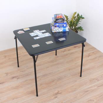 【頂堅】寬85公分-方形橋牌桌/折疊桌/麻將桌/洽談桌/餐桌/書桌/電腦桌/摺疊桌(黑色)