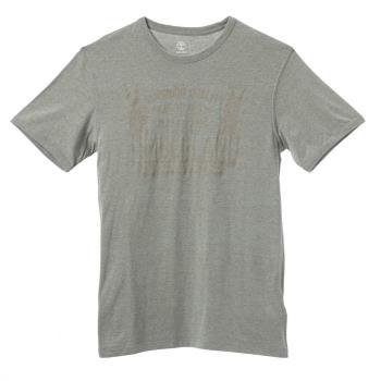 Timberland 男款灰色印花短袖T恤