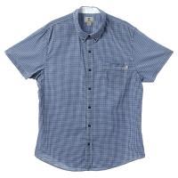 Timberland 男款細格紋修身短袖襯衫