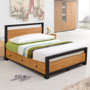 Homelike 黑森林床架組-單人3.5尺(不含床墊)