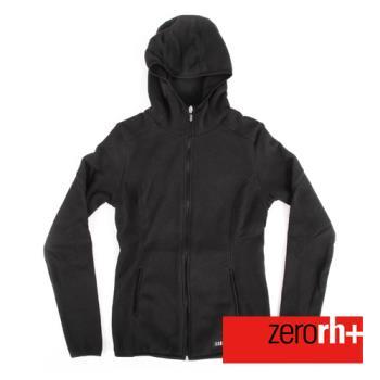 ZERORH+ 保暖刷毛時尚造型休閒外套(女款)-煤炭黑