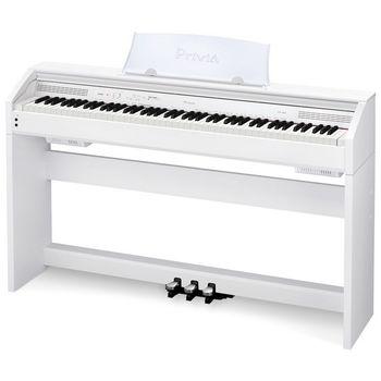 【CASIO 卡西歐】質感外型與豐富表現力的數位鋼琴 白色款 (PX-760WH)