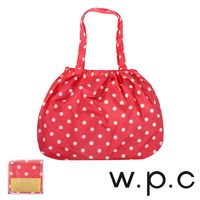 【w.p.c】時尚包包雨衣/束口防雨袋 (紅底白點)