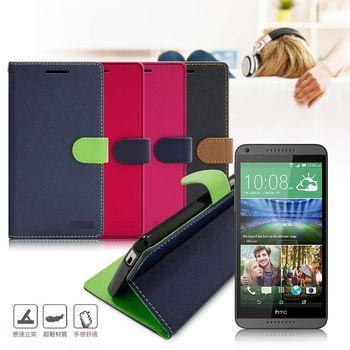 【台灣製造】FOCUS HTC Desire 816 糖果繽紛支架側翻皮套