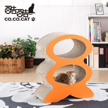★酷酷貓 Co.Co.Cat★魚骨公寓 -100%台灣製紙箱貓抓板