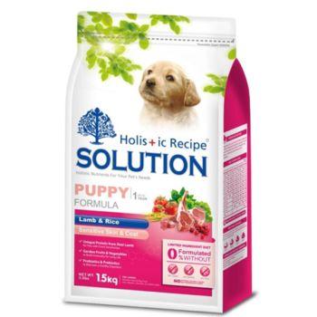 SOLUTION耐吉斯 幼犬聰明成長羊肉+田園蔬菜狗飼料 7.5公斤 X 1