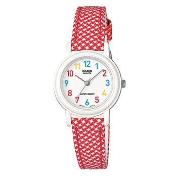 【CASIO】 復古美學花香氣息指針腕錶-花帶x數字白面 (LQ-139LB-4B)