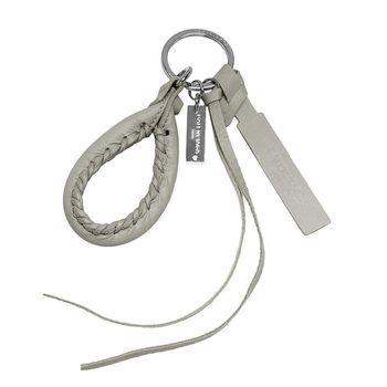 BALENCIAGA 巴黎世家City小橡膠釦提把造型吊飾鑰匙圈(泥灰色)