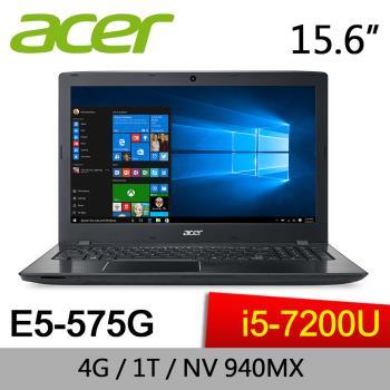 ACER 宏碁 E5-575G-5587  15吋筆電 7代Core i5 / 940MX 2G獨顯/ 1TB