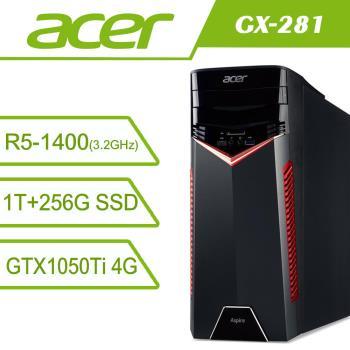 acer宏碁桌電 AMD Ryzen5 四核雙碟獨顯WIN10電腦 GX-281