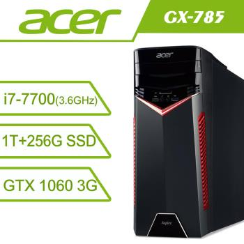 acer宏碁 GX-785 Core i7 7700 /16G /GTX1060-3G頂規電競桌上型電腦