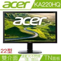 ACER宏碁 KA220HQ 22型雙介面不閃屏瀘藍光液晶螢幕