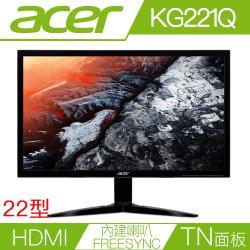 acer  KG221Q 21.5吋液晶螢幕 支援D-Sub/HDMI/可調整傾斜-網