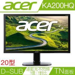 acer KA200HQ  19.5吋液晶螢幕 支援VGA(D-Sub)/可壁掛-網