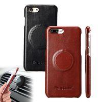【Fierre Shann】APPLE iPhone7 Plus 5.5吋 手工油蠟皮革磁吸背殼保護殼
