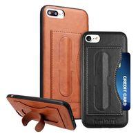 【Fierre Shann】APPLE iPhone7 4.7吋 手工皮革可插卡支架背殼保護殼