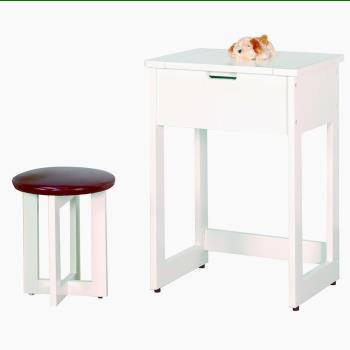 化妝桌/書桌/時尚白