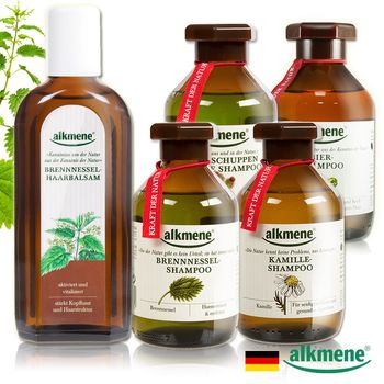 德國Alkmene草本耀典全效能養護4+1超值組(洗髮露四款任選x4+育毛精華x1)