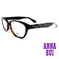ANNA SUI 日本安娜蘇 浪漫薔薇花紋造型眼鏡(琥珀+灰)AS636-113