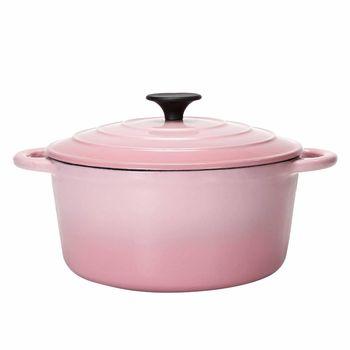 鍋寶歐風琺瑯鑄鐵鍋時尚粉彩組