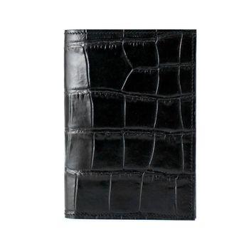【Continuita 康緹尼】多功能復古小牛皮護照夾-黑色