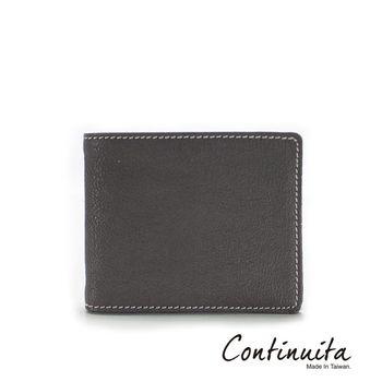 【Continuita 康緹尼】頭層牛皮隨身鈔票夾-咖啡色/黑色/灰色