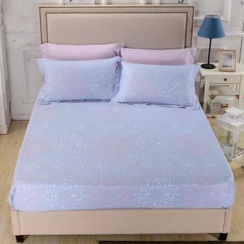 【Betrise唯美戀語-藍】單人-台灣製造-3M專利天絲吸濕排汗二件式床包組