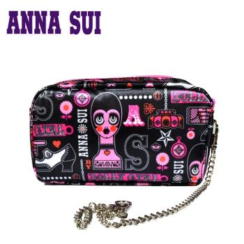 Anna Sui日本Dolly Girl洋娃娃元素太陽眼鏡‧黑+桃【DG800-002】