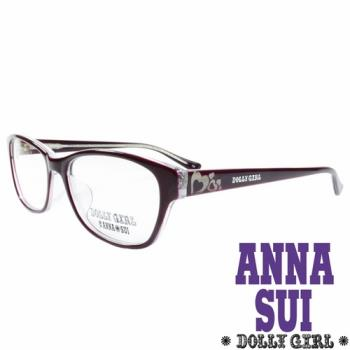 Anna Sui安娜蘇日本Dolly Girl系列可愛少女愛心款造型太陽眼鏡‧咖啡【DG528-711】